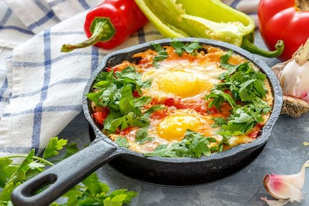 Cast Iron Pan with Egg