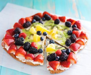 toaster oven made fruit pizza
