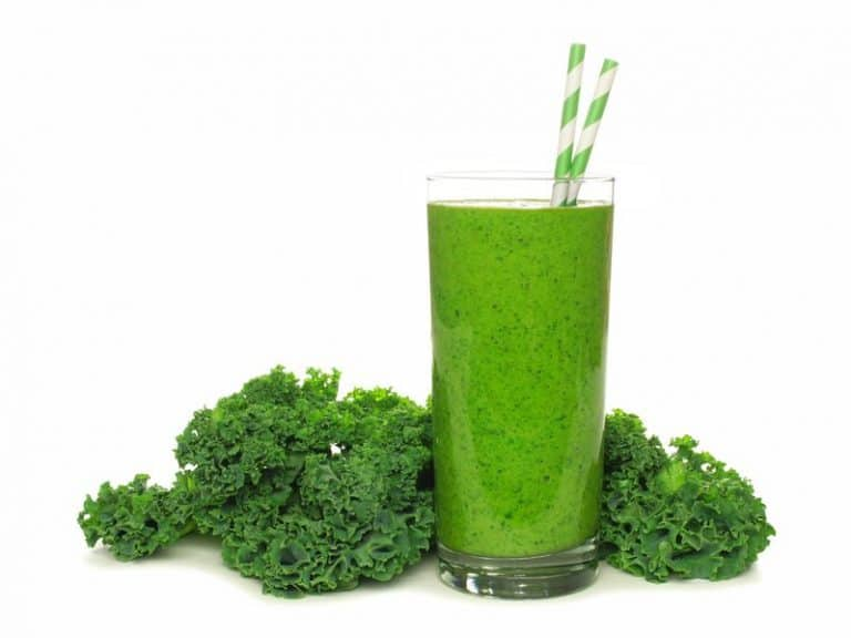 Kale juice in glass