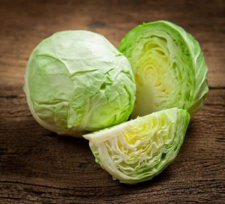 cabbage on wooden