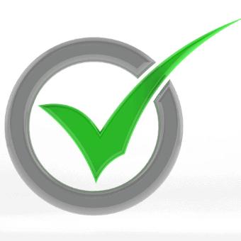 green checkmark in circle
