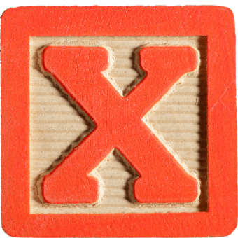 red x in block