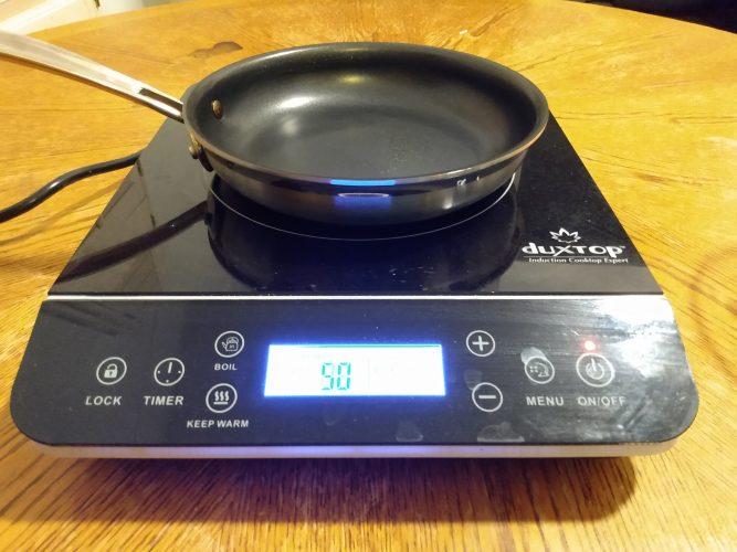 Duxtop 9600LS with Cuisinart Nonstick Pan